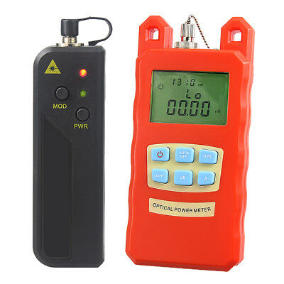 -70dBm~+10dBm Optical Fiber Power Meter Tester & 1mW Visual Fault Locator