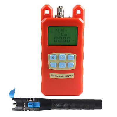 -70dBm~10dBm Optical Fiber Power Meter Tester +1mW Visual Fault Locator