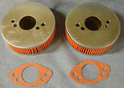 NEW MG MIDGET 1500  TRIUMPH SPITFIRE 1500 PAIR OF AIR FILTERS AND GASKETS