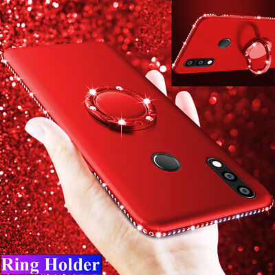 Shockproof Ring Holder Bling Diamond Case Cover for Huawei Mate 20 Pro P20 Lite