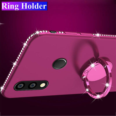 Slim Bling Diamond Silicone Stand Case Cover for Huawei Mate 20 Pro/P20 lite 8X