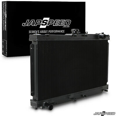 JAPSPEED BLACK 50mm ALLOY RADIATOR FOR MAZDA MX5 MX-5 MK2 MK2.5 NB 1.6 1.8 98-05