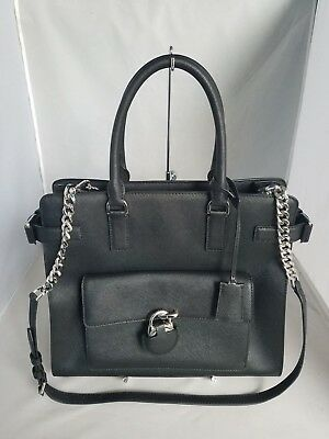 cb35c55db9a5 NWT MICHAEL KORS Emma Large Saffiano Leather Tote Handbag $448 Dark ...