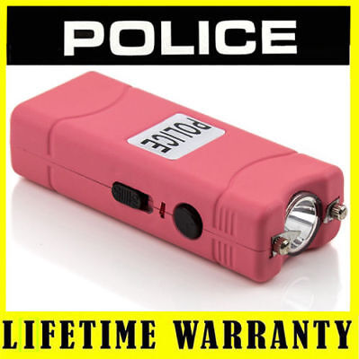 POLICE PINK 801 55 BV Rechargeable Mini LED Stun Gun + Taser Case