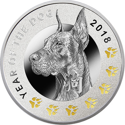 Year of the Dog Proof Silver Coin 1$ Niue 2018