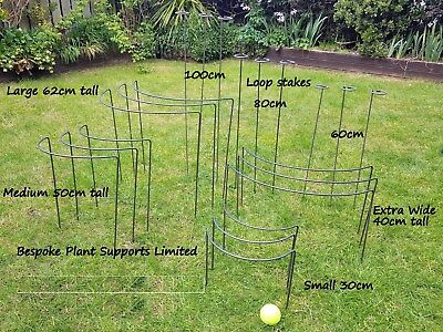 Plant Supports (Metal) Stakes in various sizes in 6mm mild steel. As seen on TV
