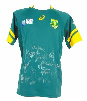 Signed Springboks Shirt - Rugby World Cup Jersey 2015 + *certificate*
