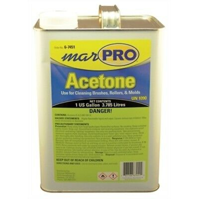 Boat Marine Premium Grade Acetone 1 Gallon Colorless Clear Fast Drying Solvent
