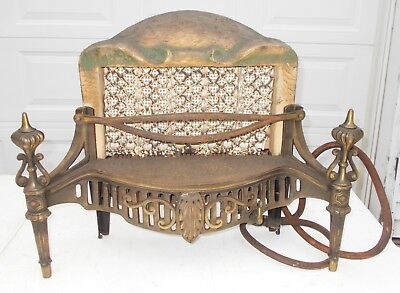 Antique Victorian Adams Cheerful 20000 BTU Gas Heater Model 40 Ceramic Iron