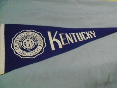 Kentucky Wildcats, University Seal Pennant, Older & Clean