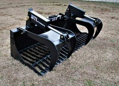 "MTL Attachments RK-X 72"" Skid Steer Rock Grapple Bucket Twin Cylinder -$169 ship"