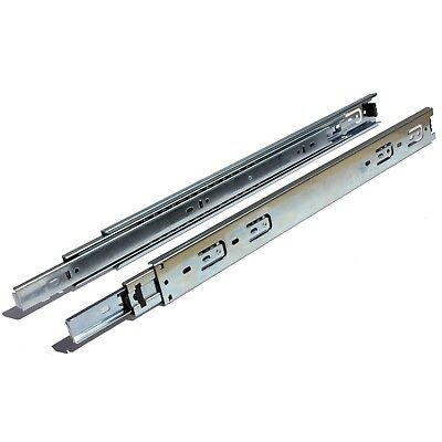 "10-28"" Full Extension 100lbs Side Mount Ball Bearing Drawer Slides w/ Overtravel"