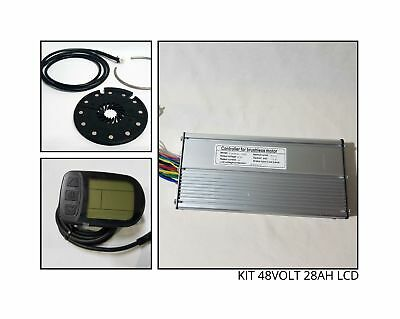Kit Completo Ricambi Bici Elettrica Ebike Centralina Display Pas 48Volt 28Ah Lcd