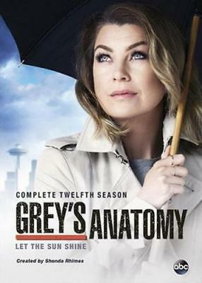 GREY'S ANATOMY: THE COMPLETE TWELFTH SEASON (Region 1 DVD,US Import,sealed.)