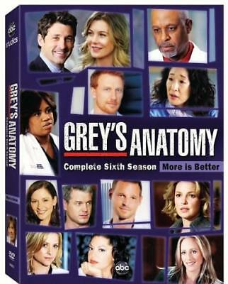 GREY'S ANATOMY: COMPLETE SIXTH SEASON (Region 1 DVD,US Import,sealed.)