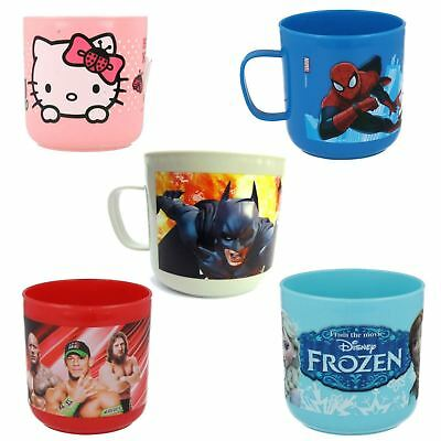Girls Boys Batman Hello Kitty Plastic Character Novelty Party Children Mugs Cups