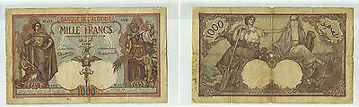 Bank Algeria And Tunisia 1 000 Francs 8.2.1938 Alphabet W.117 Rare