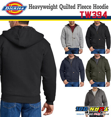 NEW DICKIES TW394 Heavyweight Quilted Fleece Hoodie Sweater Jacket (5 COLOR)