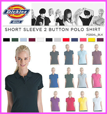 NEW Dickies Juniors Girl Solid Short Sleeve Pique Polo Shirt PQ924L Golf School