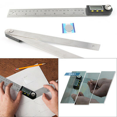 "1x 14"" Electronic Digital Protractor Goniometer Angle Finder Miter Gauge"