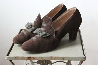 TRUE VINTAGE Late 1920s/Early 1930s Covington Gardens Shoes - UK5