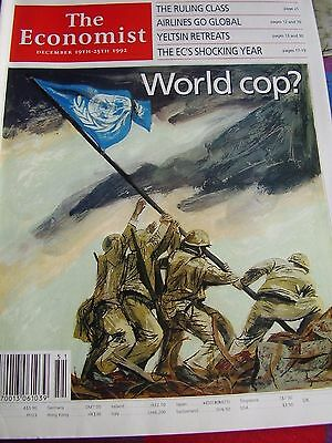 The Economist December 1992 The Ruling Class Airlines Go Global World Cop?