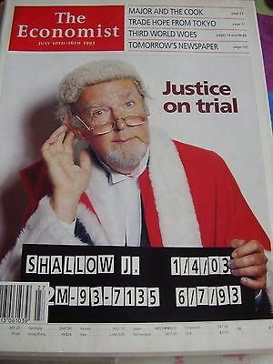 The Economist July 1993 Major And The Cook Justice On Trial Third World Woes