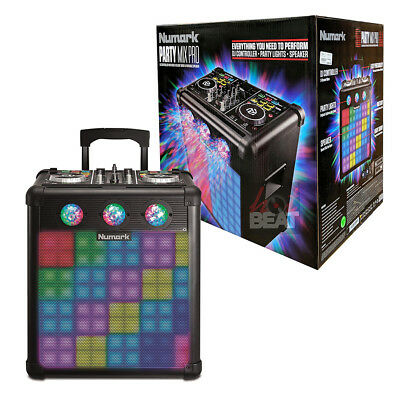 Numark Party Mix Pro DJ Controller with Built-In Light Show and Portable Speaker