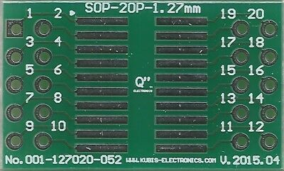 "SO20,SOP20,SOIC20 1.27mm(0.05"") to 2 x IDC2x5 connector. [UK]"