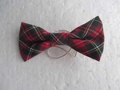 New child bow tie tartan   approx 8cm across party special occasion
