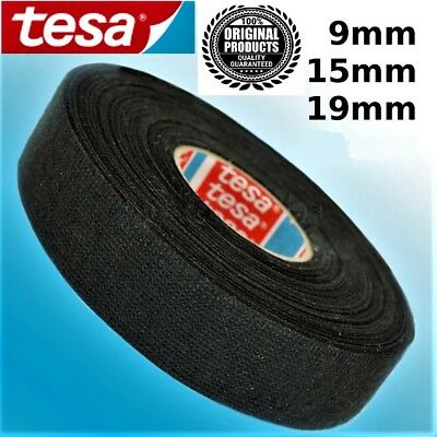 Tesa Tape Rolls Adhesive Cloth Fabric Wiring Harness 9mm 15mm 19mm 25 & 15meters
