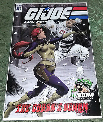 GI Joe A Real American Hero #256 RE IDW variant cover Storm Shadow vs. Scarlett