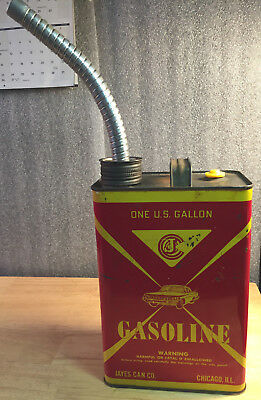 Rare Vintage Jayes Can Co 1960 Oldsmobile 88 Gas Can Gallon Can W/ Spout OLDS