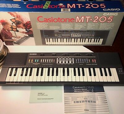 NEVER USED Vtg 80s CASIO CasioTone MT-205 Keyboard w Box WORKS PERFECT Synth NIB