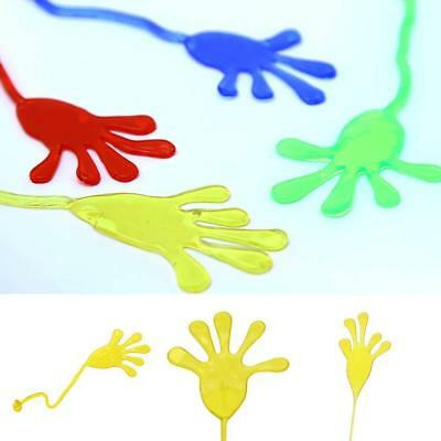 5X Stretchy Sticky Hands Palm Toy Kids Christmas Birthday Party Bag Fillers Gift