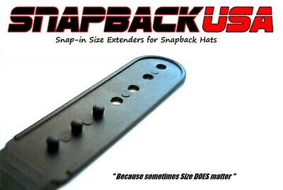 Cap size Extender- Hat Size Extension - Snap in and Go, Snapback USA, WHITE also