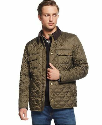 Barbour Men's Olive Green Tinford Quilted Jacket, New With Tags, Small