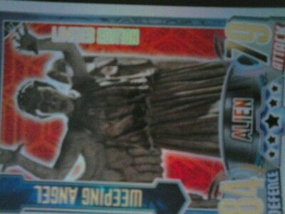dr who weeping angel limited edition card alien attax