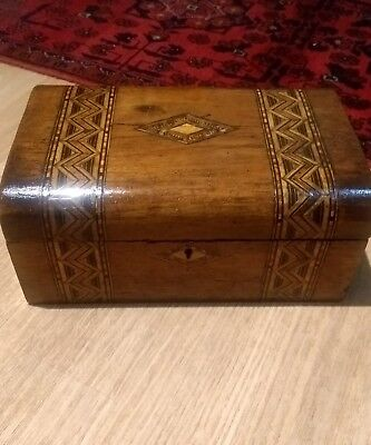 A Good Quality Antique Marquetry Sewing Box
