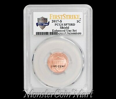 2017-S Enhanced Uncirculated Set Lincoln Cent PCGS SP70RD FIRST STRIKE