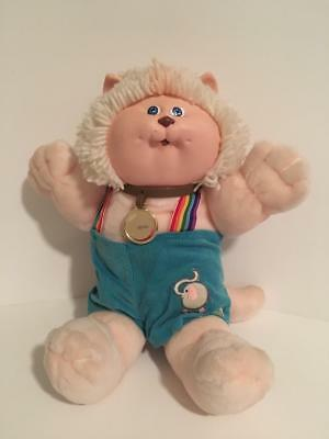 Vintage Rare Cabbage Patch Kids Koosas Lion Elephant Patch Rainbow White Hair