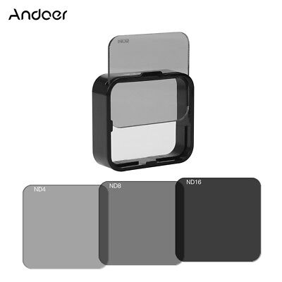 Andoer Square ND Lens Filter Protector Kit Set for Go Pro Hero4/3+/