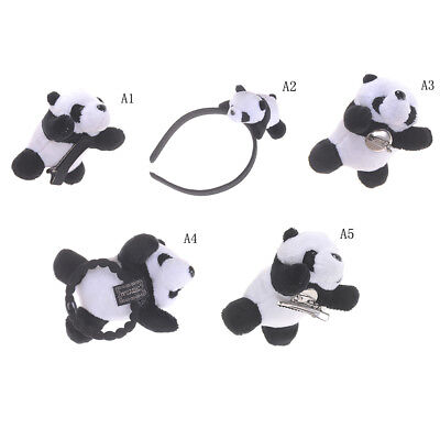 Little Plush Toys For Hair Band Hair Clip Kid's Gift Panda Plush Stuffed Toys FO