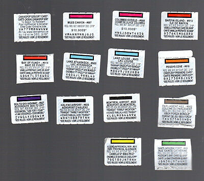 14 different monopoly coupons McDonald's