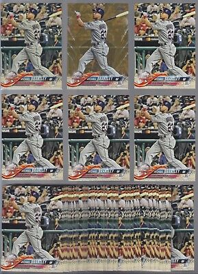 MICHAEL BRANTLEY Lot of (65) 2018 Topps Update VINTAGE GOLD BASE PARALLELS /99!!