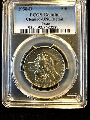 1938-D PCGS UNC Texas Commemorative Half Dollar .99c NO RESERVE