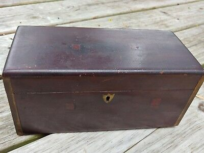 vintage solid wood box hinges rustic antique brass corners hinged chest decor