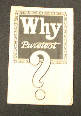 Vintage Puretest Drug Brochure – United Drug/Rexall