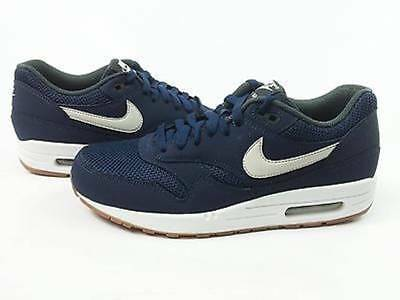 16d6507cee Nike Air Max 1 Essential Midnight Navy/Light Bone White 537383 401 Gum size  US