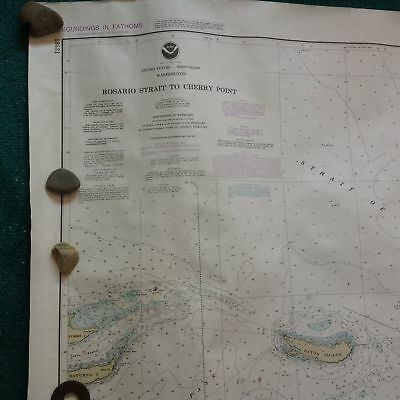 USA NOAA Nautical Chart ROSARIO STRAIT to CHERRY POINT N Washington Orcas map